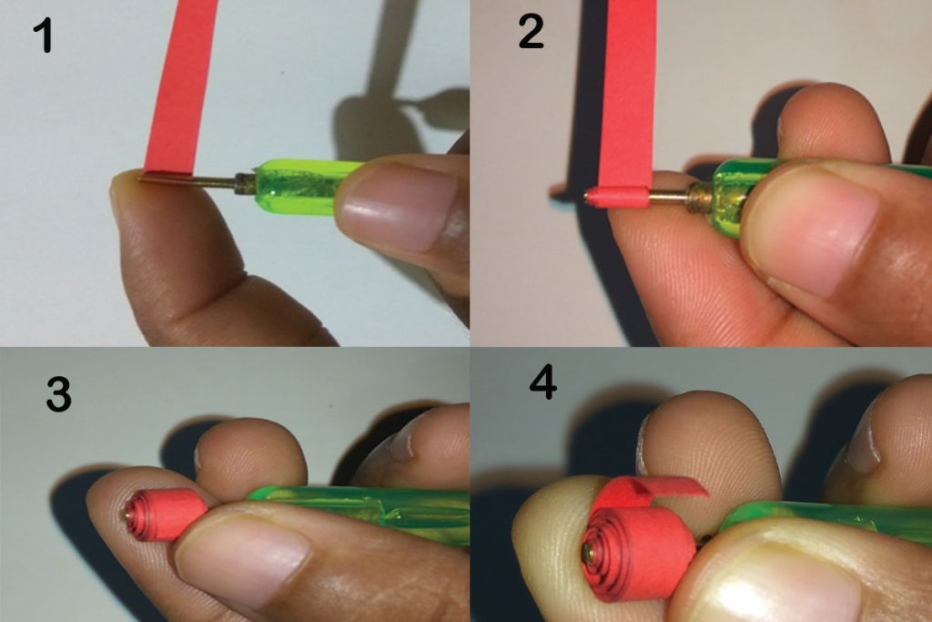 How to make a small paper quilling flower (easy craft)