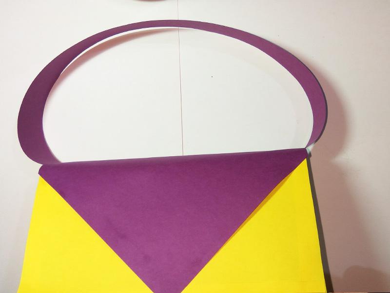 How to make a paper handbag (step by step)