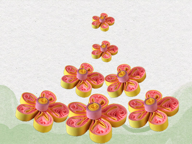 How to make flower using paper quilling