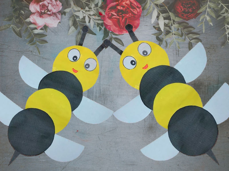 How to make a honey bee paper craft ? (in Five minute)