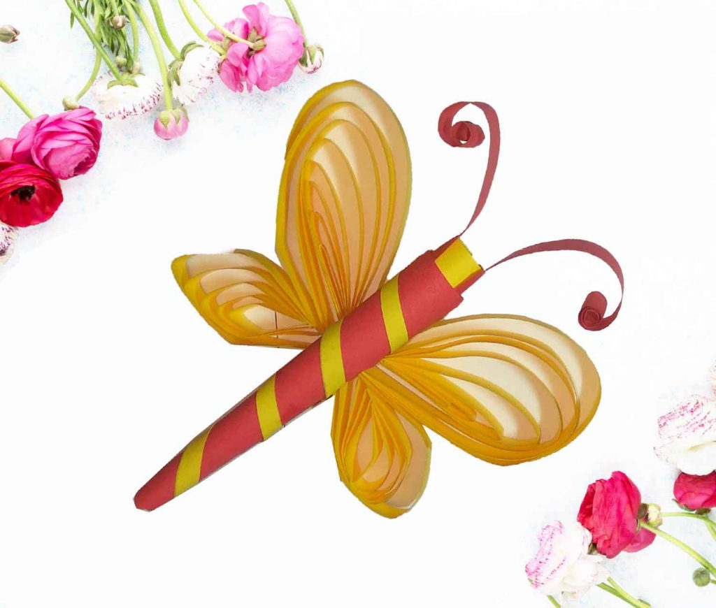 How to make paper craft butterfly?