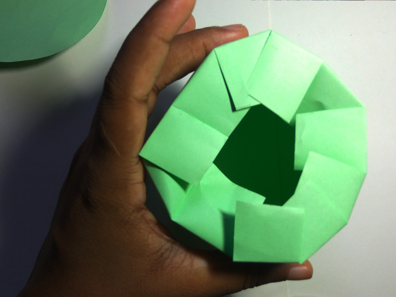 How to make a cup out of paper