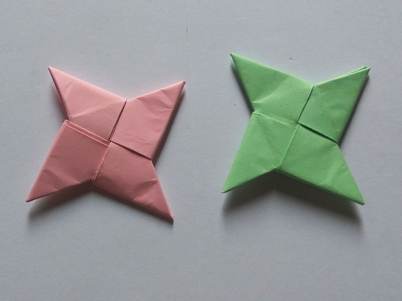 how to make a ninja star with 1 paper