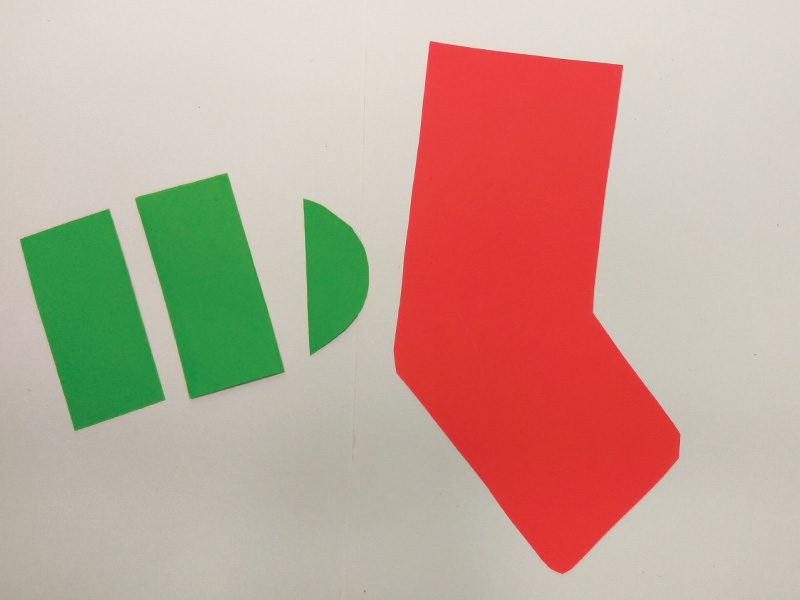 How to make paper Christmas stockings
